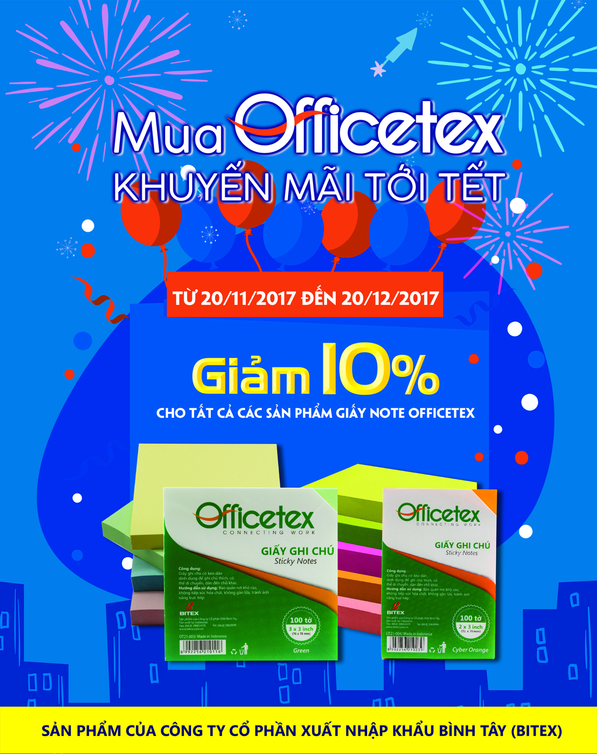 Giấy ghi chú Officetex